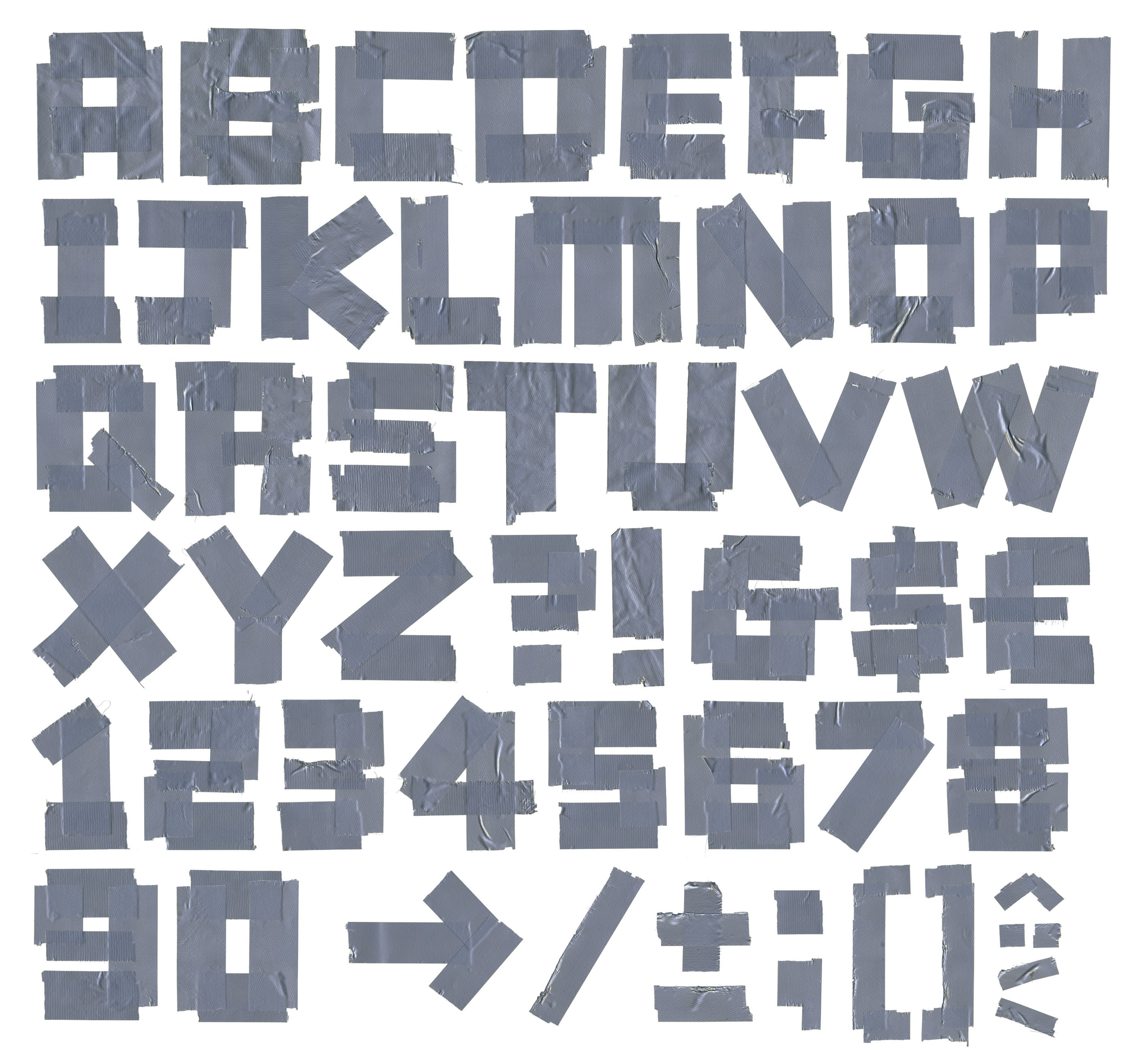 BAUT custom alphabet