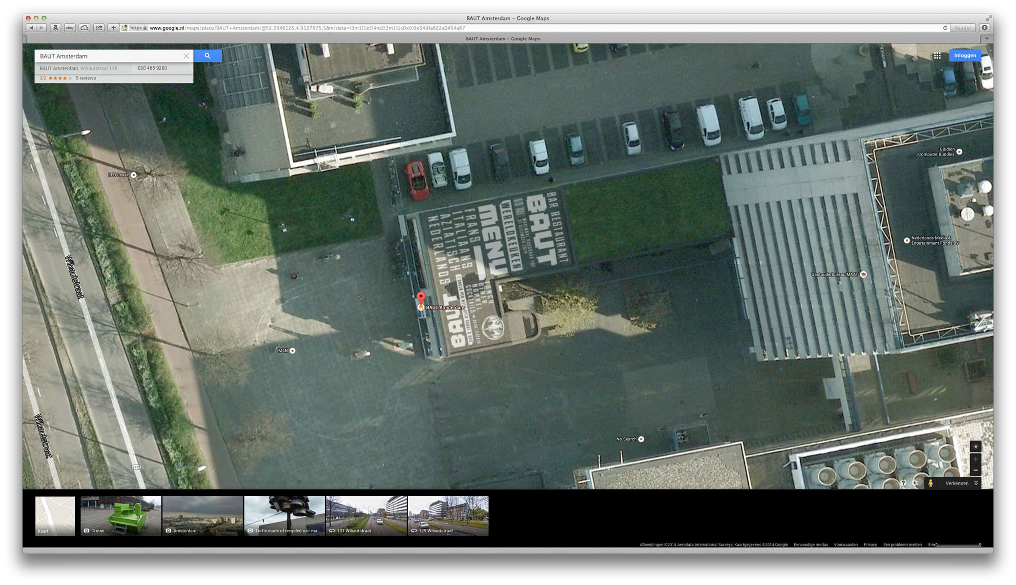 Roof paint on Google satellite