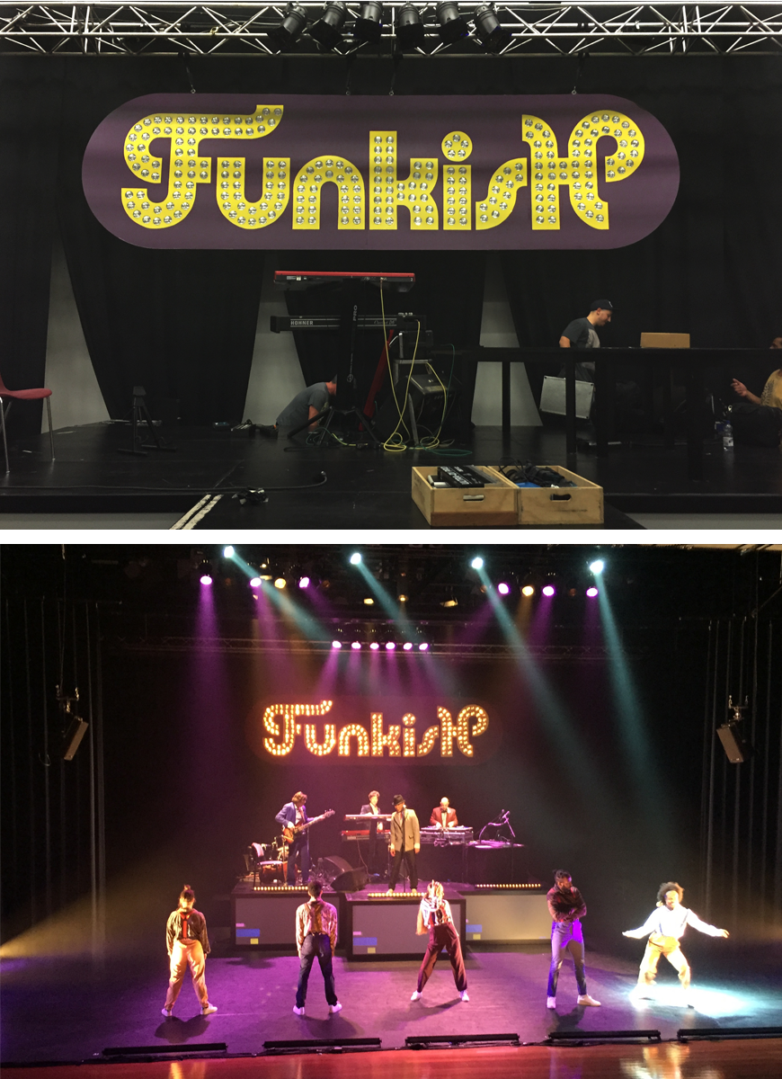 Funkish stage logo